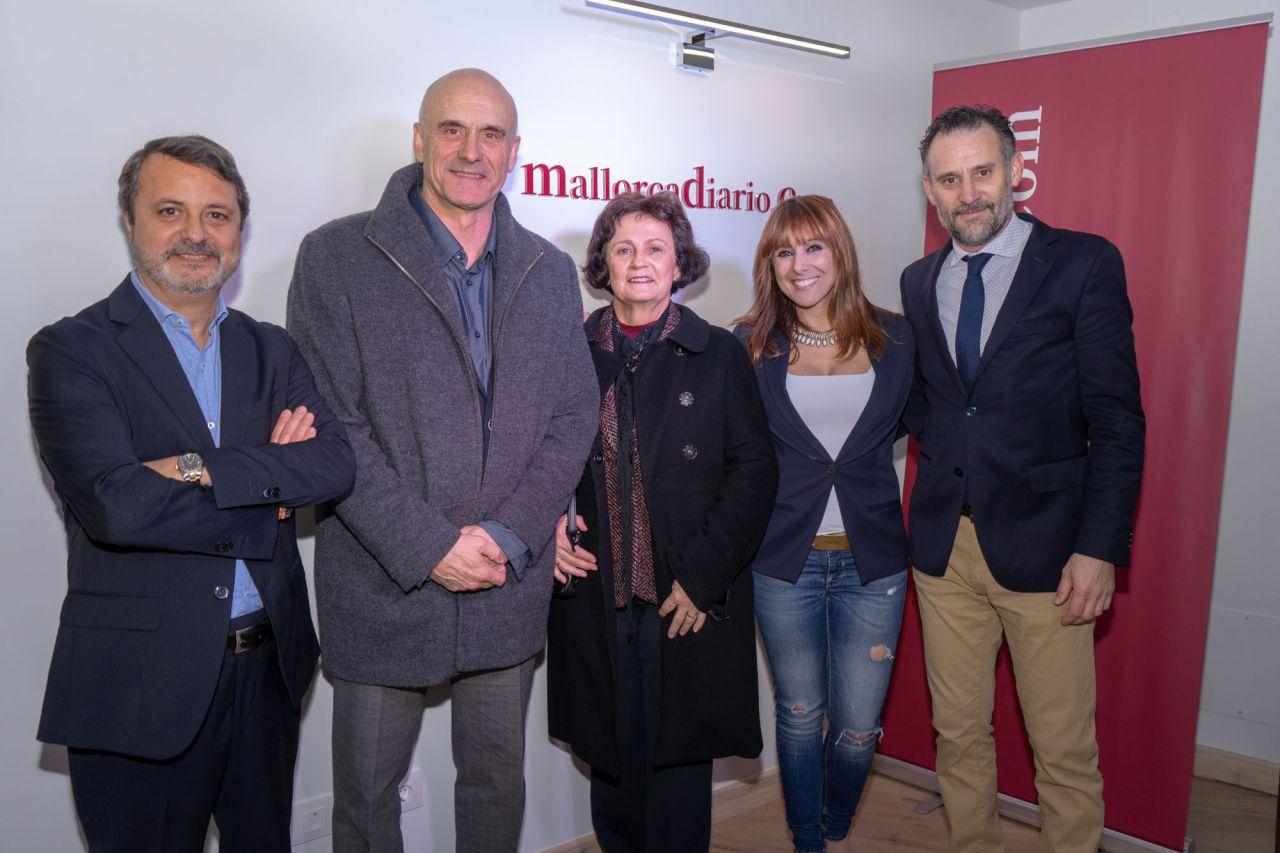 El teniente coronel Antonio Ortiz y la delegada de la AEMET en Baleares, María José Guerrero