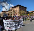 Sindicatos y estudiantes salen a la calle por el 8M