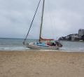 Playa Son Matías tras vendaval de viento Semana Santa 2019