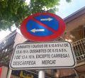 Indicaciones de tráfico y movilidad sólo en catalán