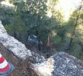 Una mujer sale ilesa tras volar 15 metros con su coche en Valldemossa