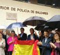 Respaldo policial en Palma a los compañeros de Barcelona