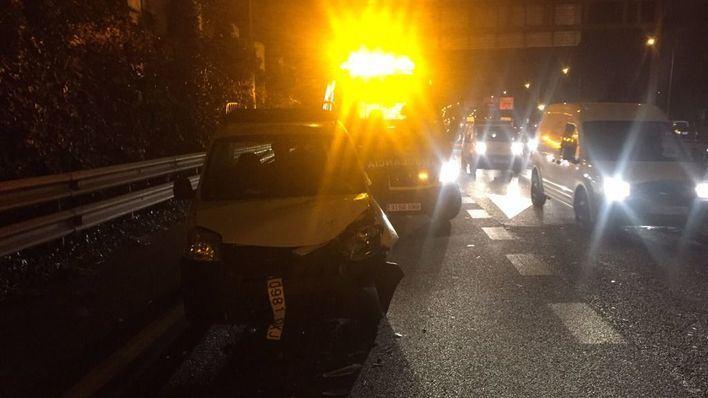 Cuatro heridos en un accidente múltiple en la Vía de Cintura