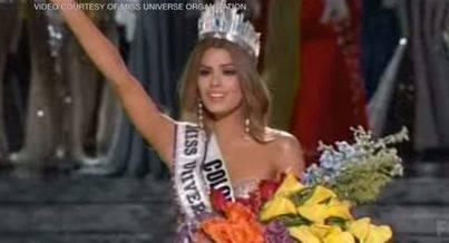 El presentador corona por error a Miss Colombia como Miss Universo