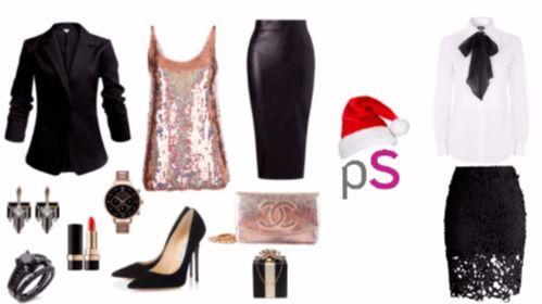 El negro con un toque de color es el look perfecto para estas navidades