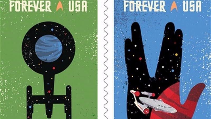 Una edición especial de sellos para el 50 aniversario de Star Trek