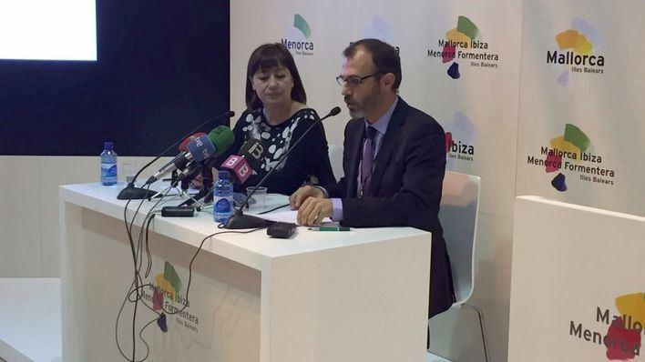 Armengol y Barceló durante la rueda de prensa