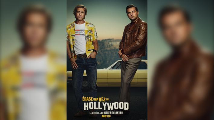 Brad Pitt y Leonardo Di Caprio se lucen con Tarantino