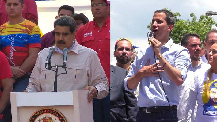 Venezolanos se manifiestan en contra y a favor de Maduro