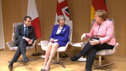 May se reúne con Merkel y Macron para hablar del Brexit