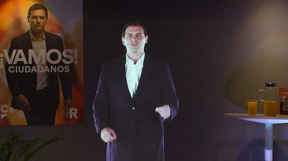 El holograma de Rivera pide el voto desde Pedraza