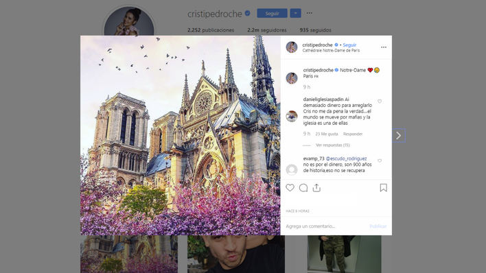 Los famosos, desolados por el incendio de Notre Dame