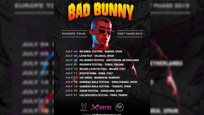 Bad Bunny vuelve a Europa tras arrasar por América