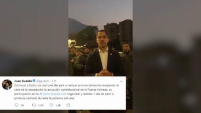 Guaidó llama a la movilización