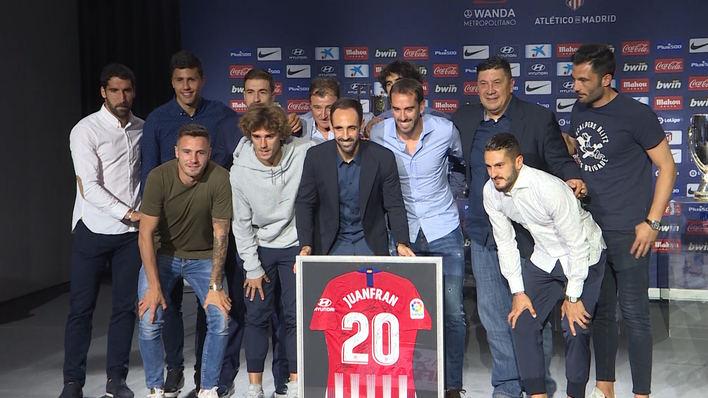 Juanfran se despide del Atlético con 'buen sabor de boca'