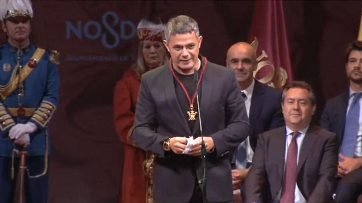 Alejandro Sanz agradece a Sevilla el título de Hijo Predilecto