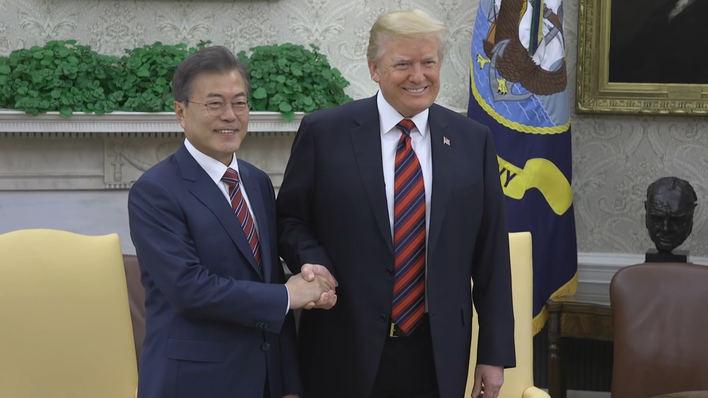 Trump viajará a Corea del Sur esta semana para reunirse con Moon