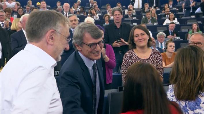 El socialista Sassoli, nuevo presidente de la Eurocámara
