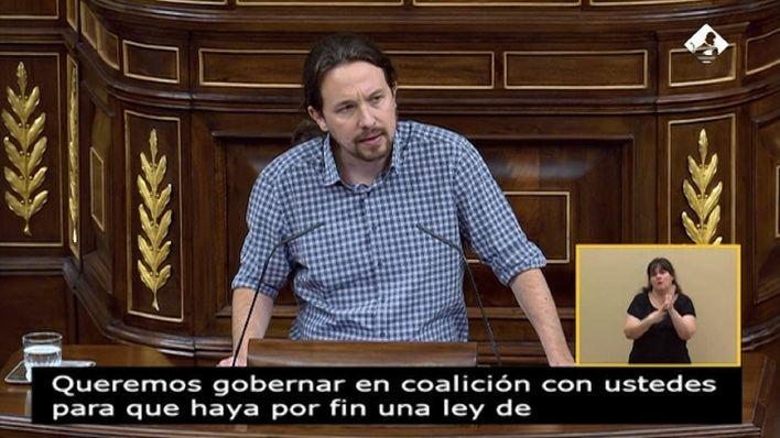 Iglesias avisa a Sánchez de que no aceptarán formar un gobierno en el que sean