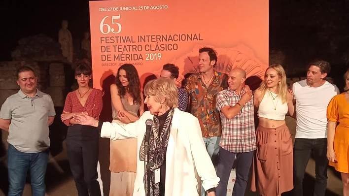 Concha Velasco, feliz de volver al Festival de Mérida por tercera vez