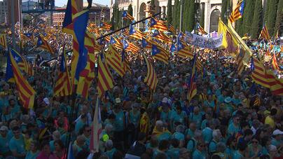 600.000 personas se manifiestan por la independencia en la Diada de Cataluña
