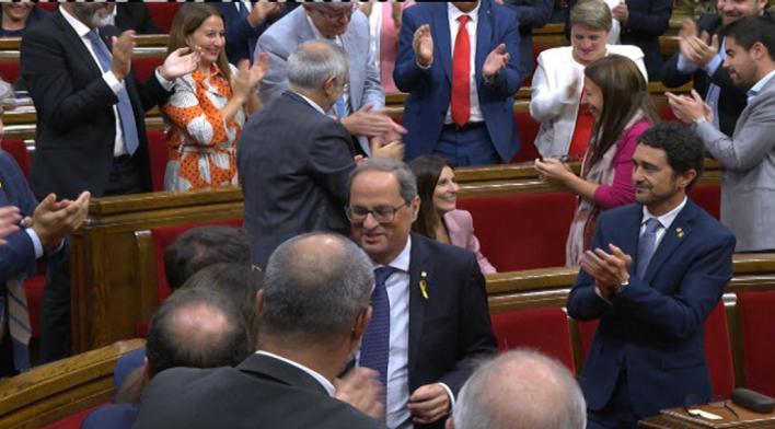El Parlament rechaza la moción de censura contra Torra