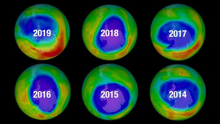 Un clima anormal deja el agujero de ozono más pequeño desde 1982