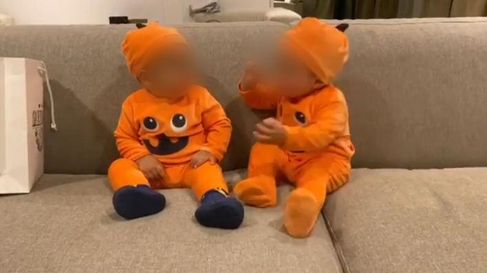 Alice Campello ya disfraza a sus hijos por Halloween