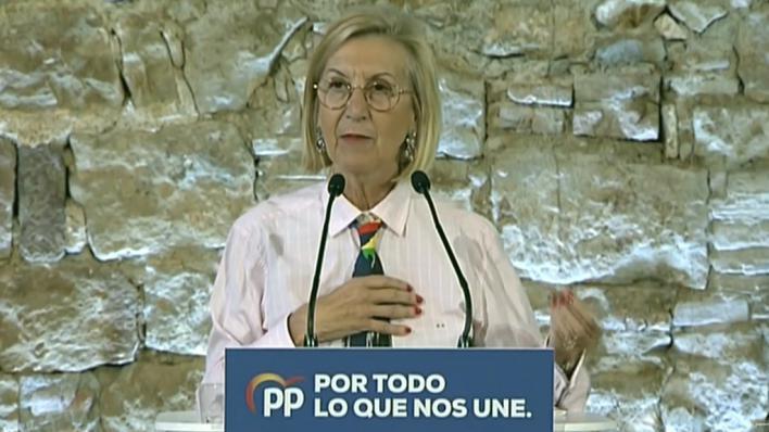 Rosa Díez pide el voto para el PP