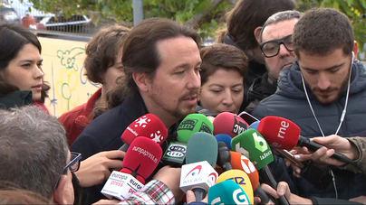 Pablo Iglesias tras votar: