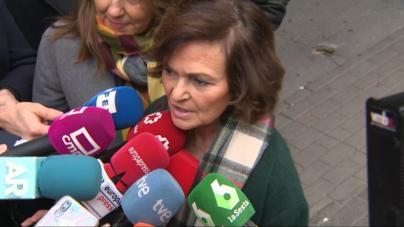 Calvo defiende abordar la crisis en Cataluña