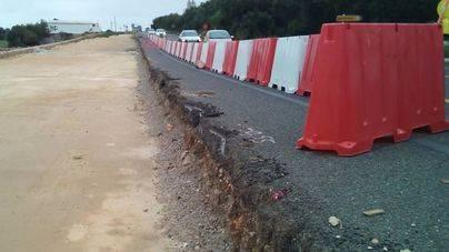 La señalización provisional de la carretera se podría empezar a eliminar la próxima semana