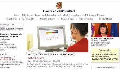 Más de 3.550 docentes interinos de Baleares tramitan su posesión