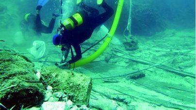 Nueva campaña de excavaciones en el pecio de Binisafúller