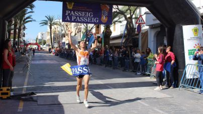 Indre Barkute y Beatriz Antolín se imponen en la carrera Passeig a Passeig