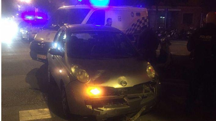Una motorista herida al colisionar contra un coche en Palma
