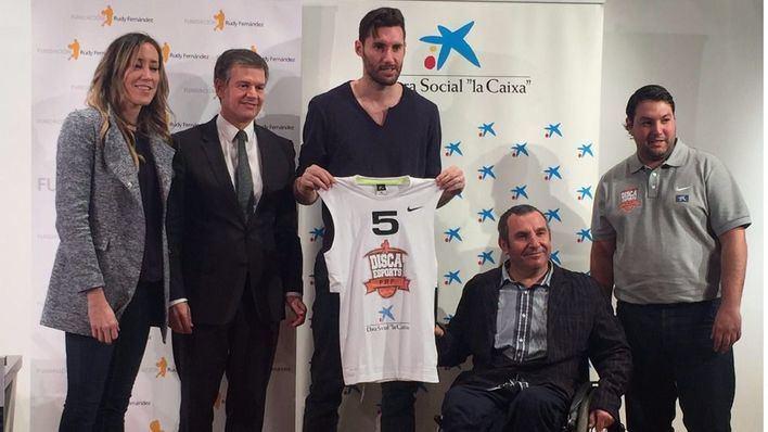 Rudy Fernández y 'La Caixa' impulsan un nuevo equipo de básquet