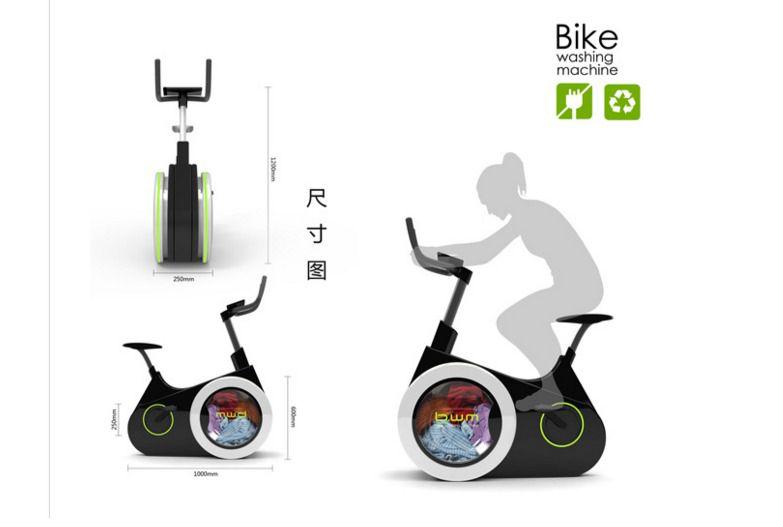 Inventada la bicicleta estática que lava la ropa