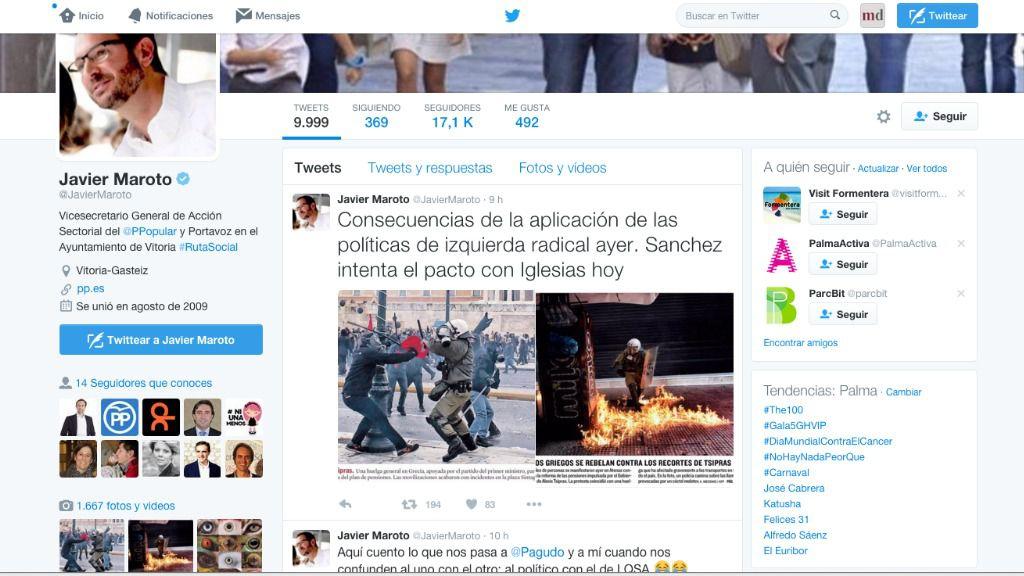 Maroto alerta de disturbios como los de Grecia si gobierna PSOE y Podemos