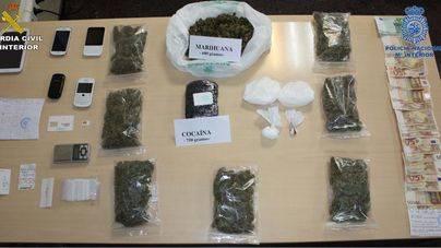 Tres detenidos en Alcúdia en posesión de 1 kilo de cocaína