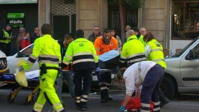 Herido un motorista tras ser arrollado por una conductora en Palma
