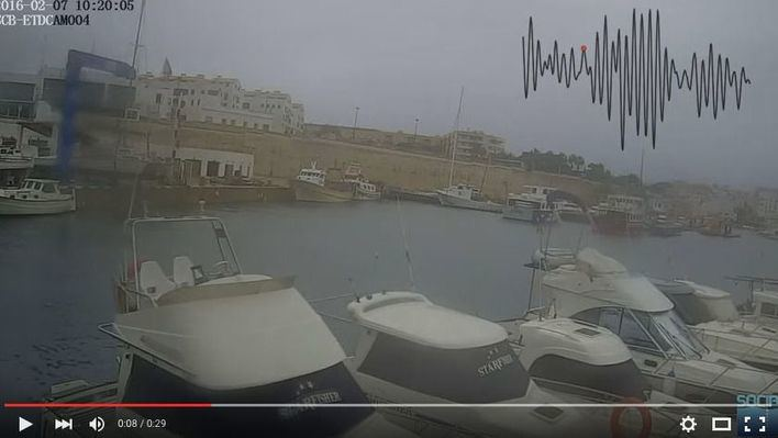 Las cámaras captan la espectacular rissaga del domingo en Menorca