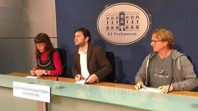 Representantes del grupo parlamentario de Podem