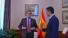 Rajoy niega el saludo a Sánchez
