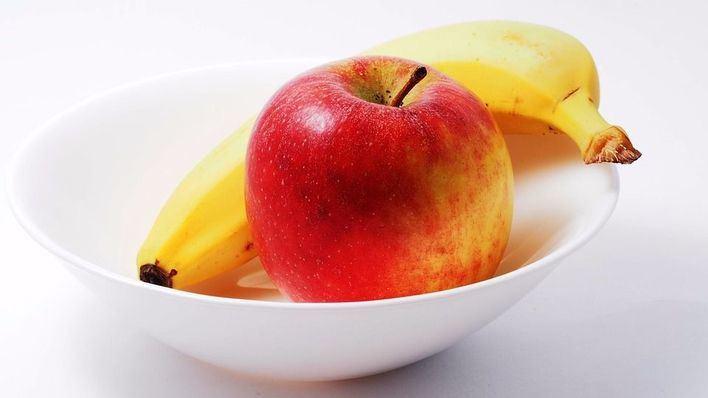 Una manzana engorda lo mismo que un plátano