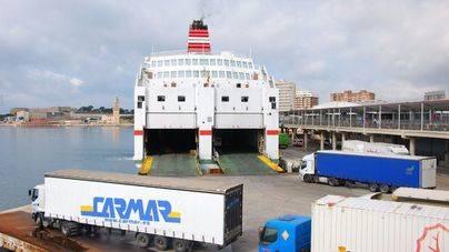 El tráfico de mercancías en los puertos de Balears aumentó un 6% en 2015