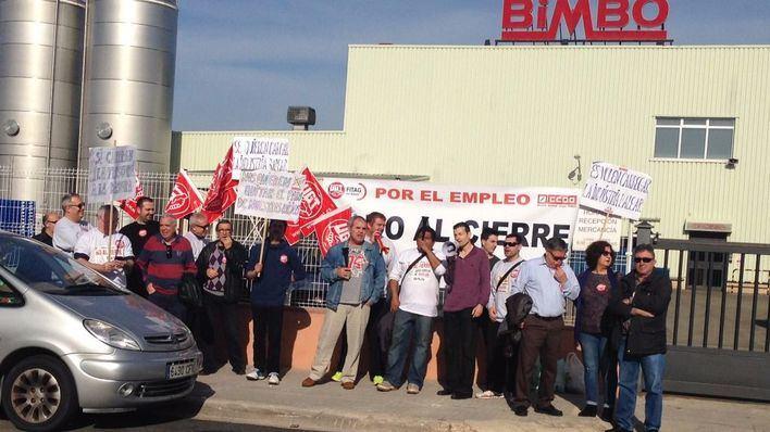 La huelga paraliza la producción de Bimbo en Palma