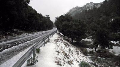 Imagen de la última nevada en la Serra de Tramuntana