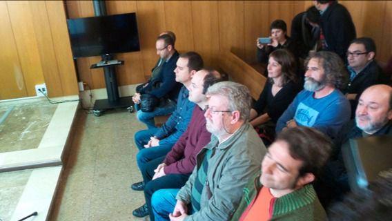 Todo estaba dispuesto para el inicio del juicio. Foto: Jorge S. L.