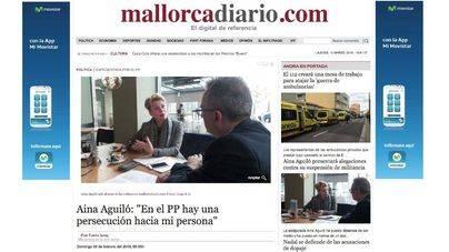 El tercer expediente contra Aina Aguiló fue por su entrevista en mallorcadiario.com